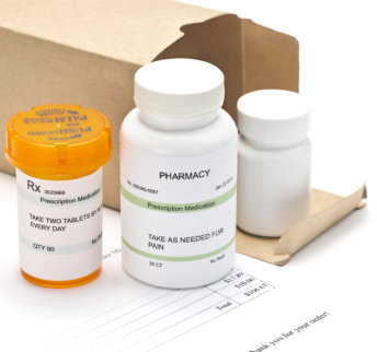 bottle of medicines and tablets